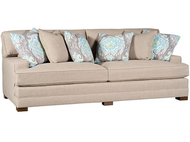King Hickory Casbah Fabric Sofa With Track Arm Loose Border Back Modern Leg