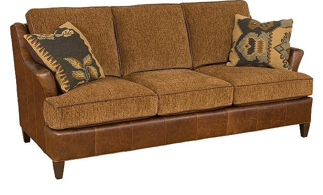 King Hickory Melrose Leather/Fabric Sofa 1450 LF