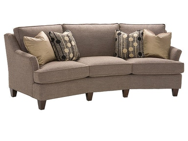 King Hickory Melrose Fabric Conversation Sofa 1465
