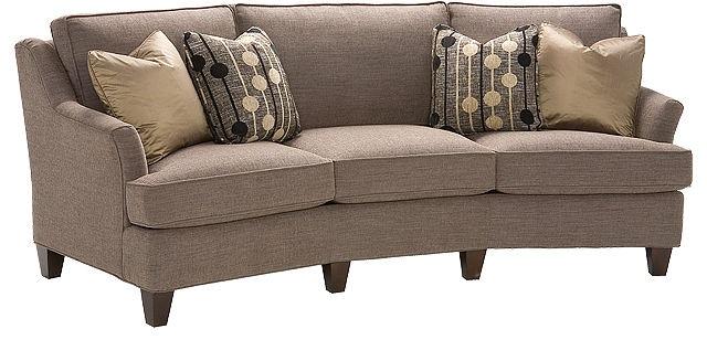 King Hickory Melrose Fabric Conversation Sofa 1465