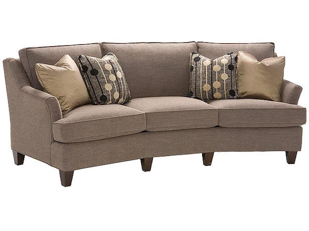King hickory living room melrose fabric conversation sofa for Good furniture brands for living room furniture