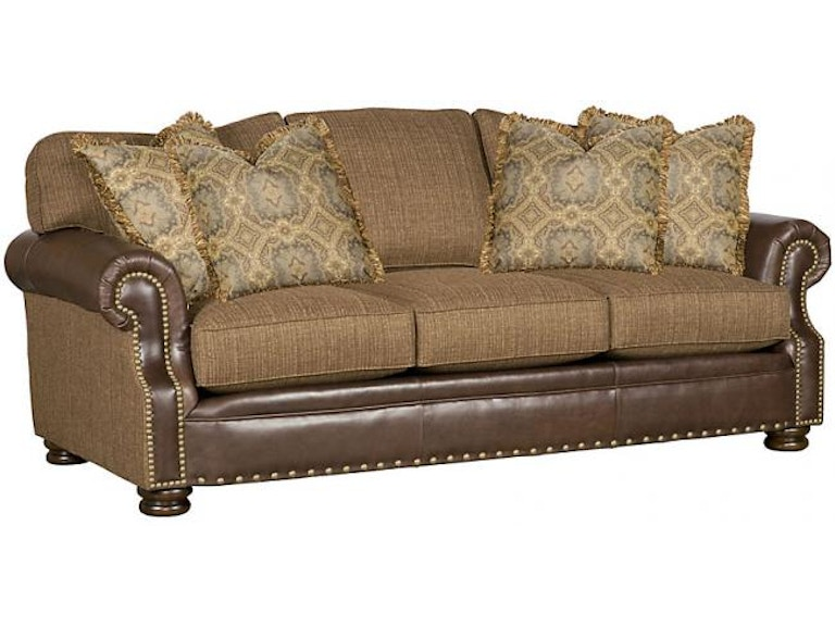 King Hickory Living Room Easton Leather Fabric Sofa Sku 1600 Lf Is Available At Furniture Mart In Nc And Nationwide