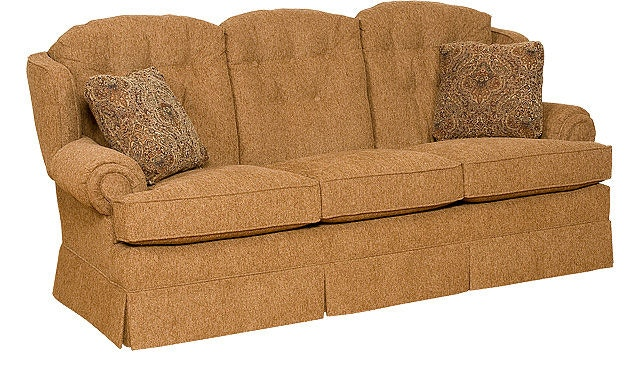 Exceptional King Hickory Valerie Fabric Skirted Sofa 1900