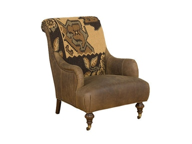 King Hickory Gina Leather/Fabric Chair 191-LF