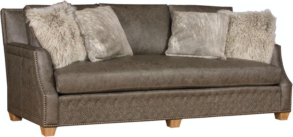 King Hickory Living Room Santiago Leather Bench Cushion Sofa