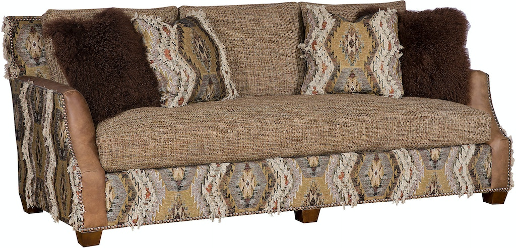 Hickory Manor Living Room Santiago Leather Fabric Bench