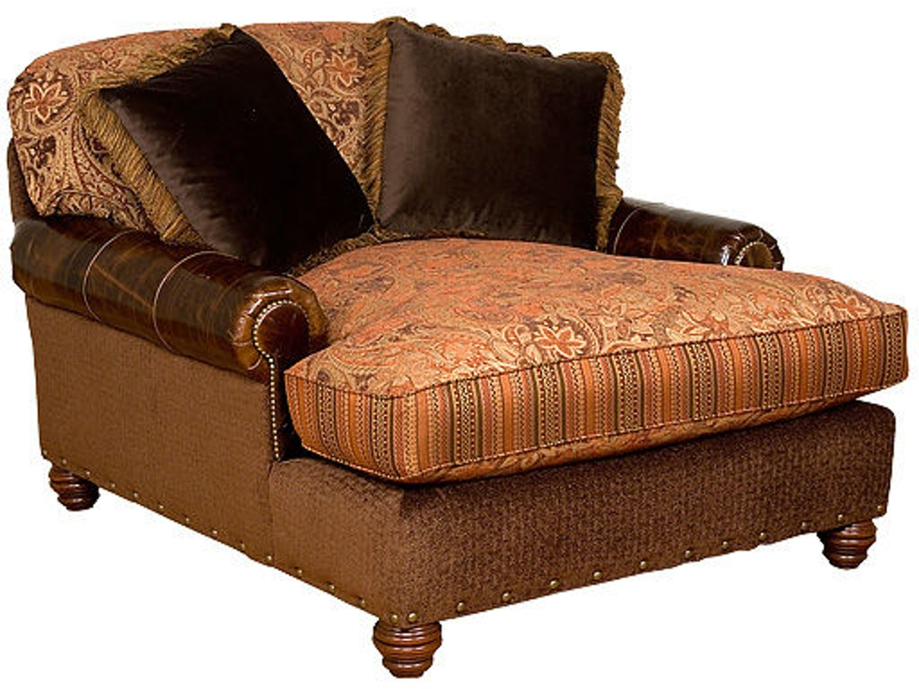 King hickory living room charlotte chaise and a half 260 for Chaise and a half
