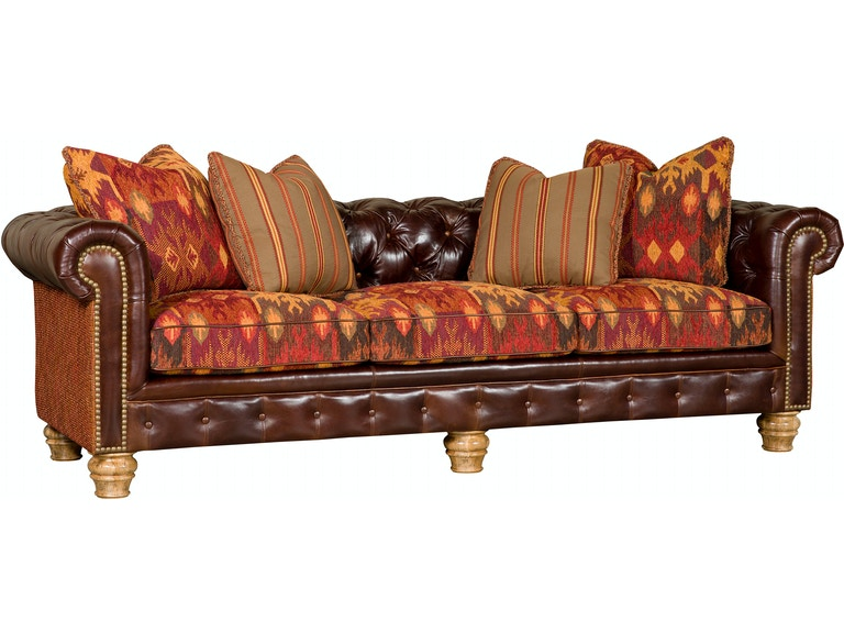 King Hickory Living Room Empire Leather/Fabric Sofa 2900-LF - Andrews Furniture - Abilene, TX