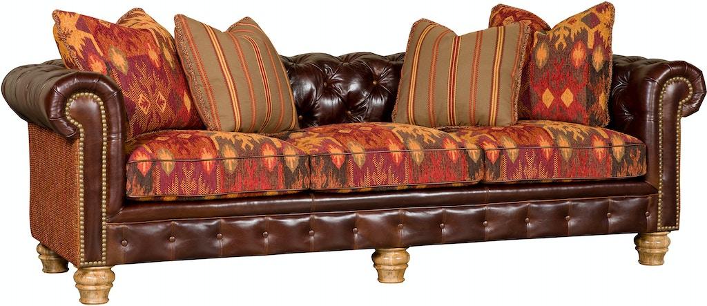 King Hickory Empire Leather/Fabric Sofa 2900-LF