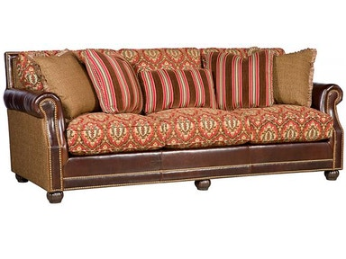King Hickory Julianna Leather Fabric Sofa 3000-LF