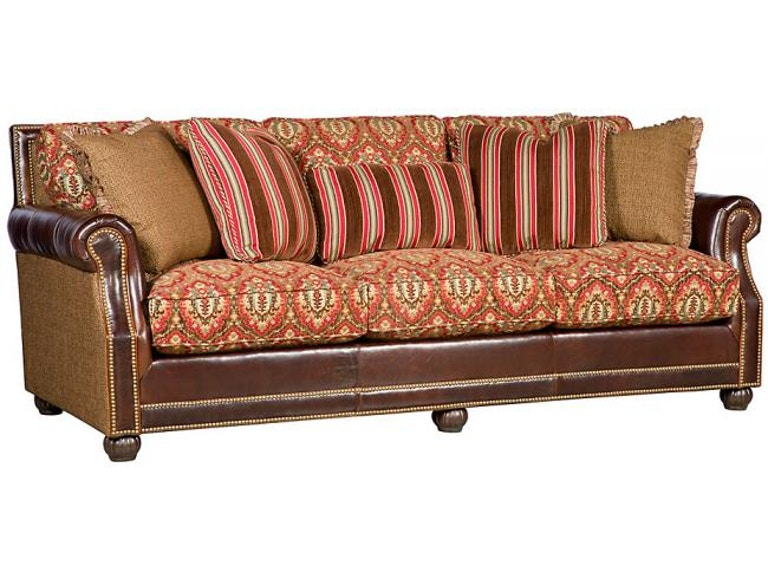 King Hickory Julianna Leather Fabric Sofa 3000 Lf