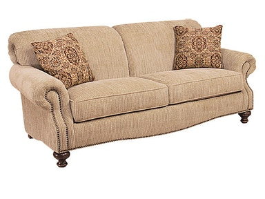 King Hickory Roxanne Fabric Sofa 4100