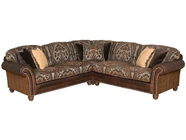King Hickory Katherine Fabric Leather Sectional 9700 Sect Lf