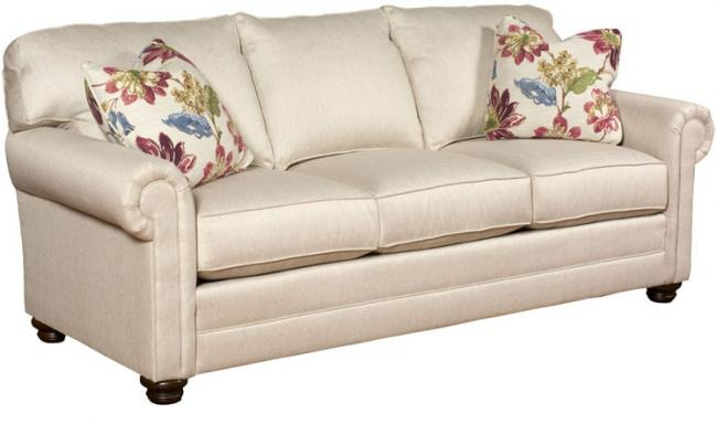 King Hickory Living Room Bentley Fabric Sofa With Panel