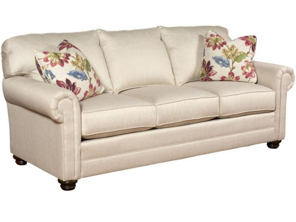 King Hickory Living Room Bentley Fabric Sofa With Panel