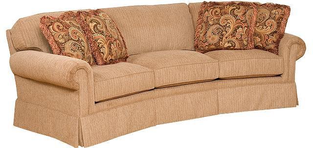 King Hickory Living Room Bentley Fabric Conversation Sofa