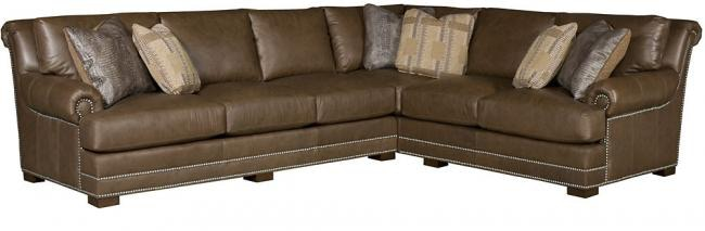 King Hickory Living Room Barclay Leather Sectional 4653