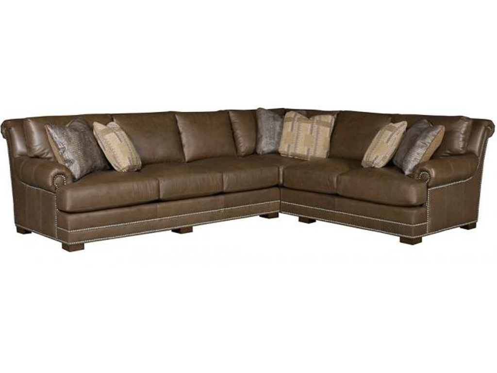 Hickory Manor Living Room Barclay Leather Sectional 4653 Sect L Grace Furniture Marcy Ny