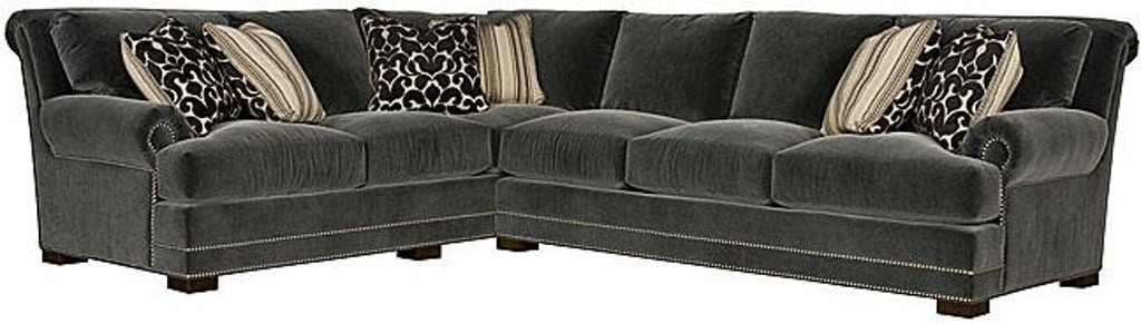 King Hickory Living Room Barclay Fabric Sectional 4662