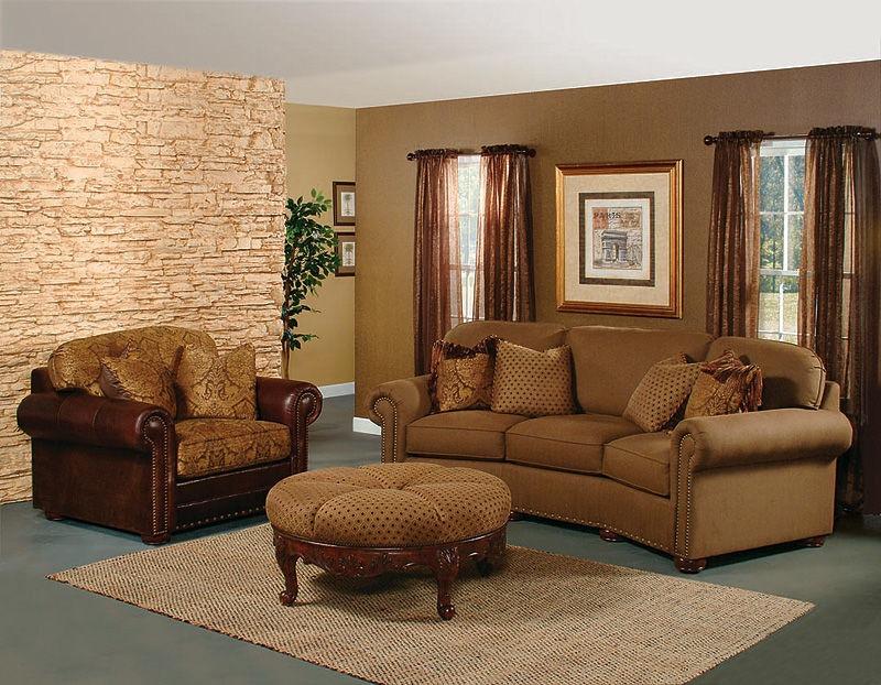 Hickory Manor Living Room Ricardo Fabric Conversation Sofa 9965