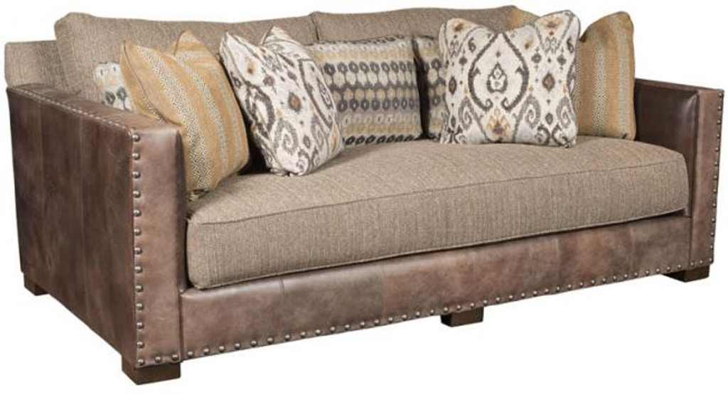 King Hickory Living Room Pacific Leather Fabric Sofa