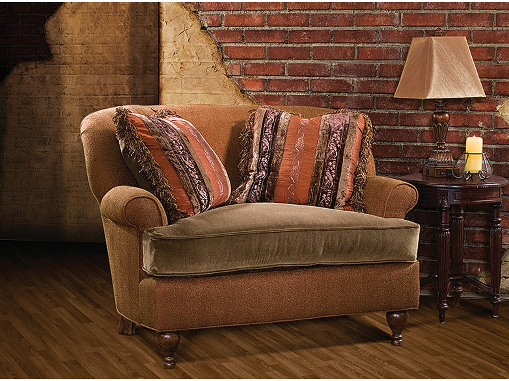 King hickory living room cuddle chair and a half 5101 hickory furniture mart hickory nc for Hickory chair bedroom furniture