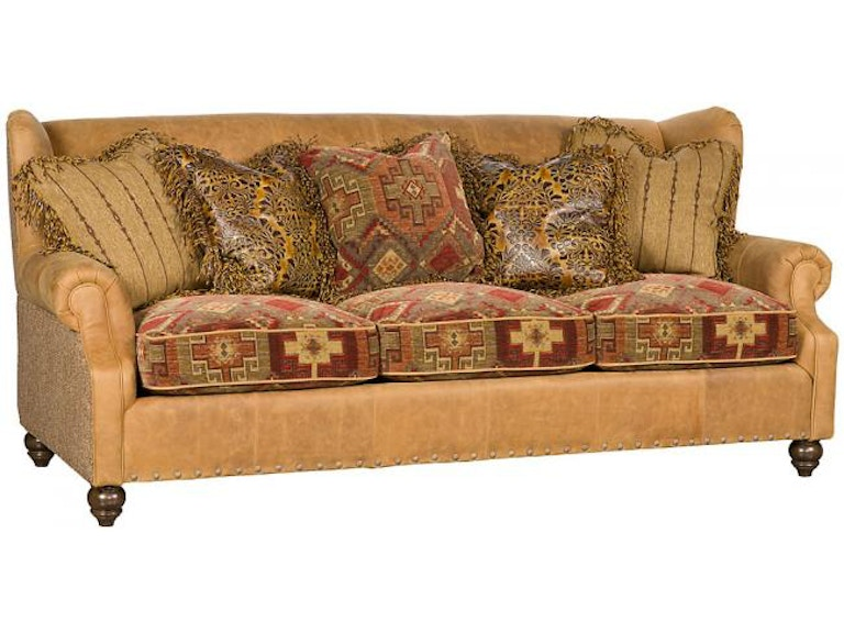 King Hickory Living Room Lucy Leather Fabric Sofa 5200-LF ...