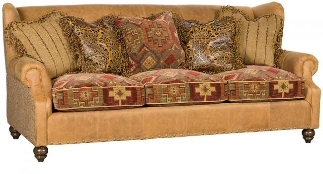 living room furniture north carolina king hickory living room leather fabric sofa 5200 lf 18624