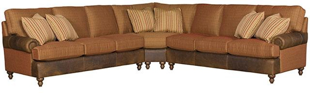 Magnificent King Hickory Chatham Leather Fabric Sectional 5900 Sect Lf Machost Co Dining Chair Design Ideas Machostcouk