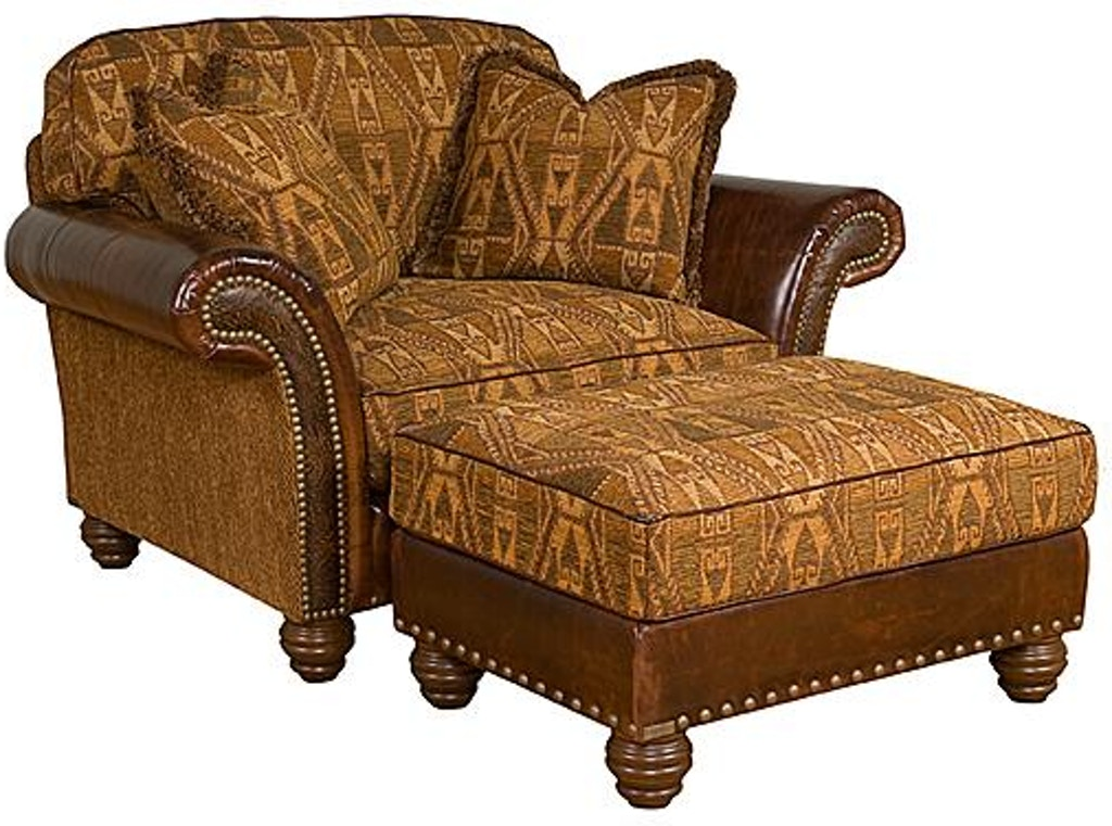 Astonishing King Hickory Living Room Kacey Leather Fabric Ottoman 5408 Evergreenethics Interior Chair Design Evergreenethicsorg