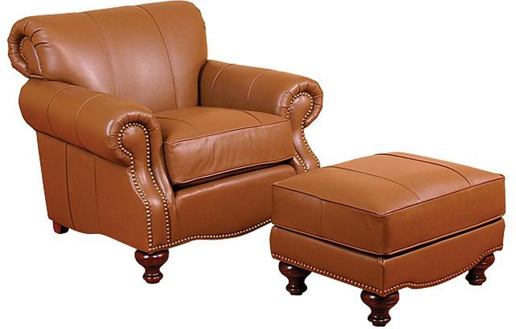 Stupendous King Hickory Living Room Roxanne Leather Chair 54101 L Machost Co Dining Chair Design Ideas Machostcouk