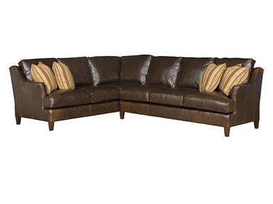 King Hickory Melrose Leather Sectional 1400-SECT-L