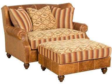 King Hickory Lucy Leather Fabric Settee 55250-LF