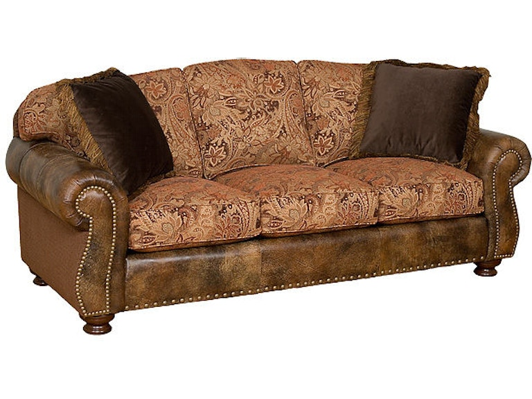King Hickory Helen Leather Fabric Sofa 56150 Lf
