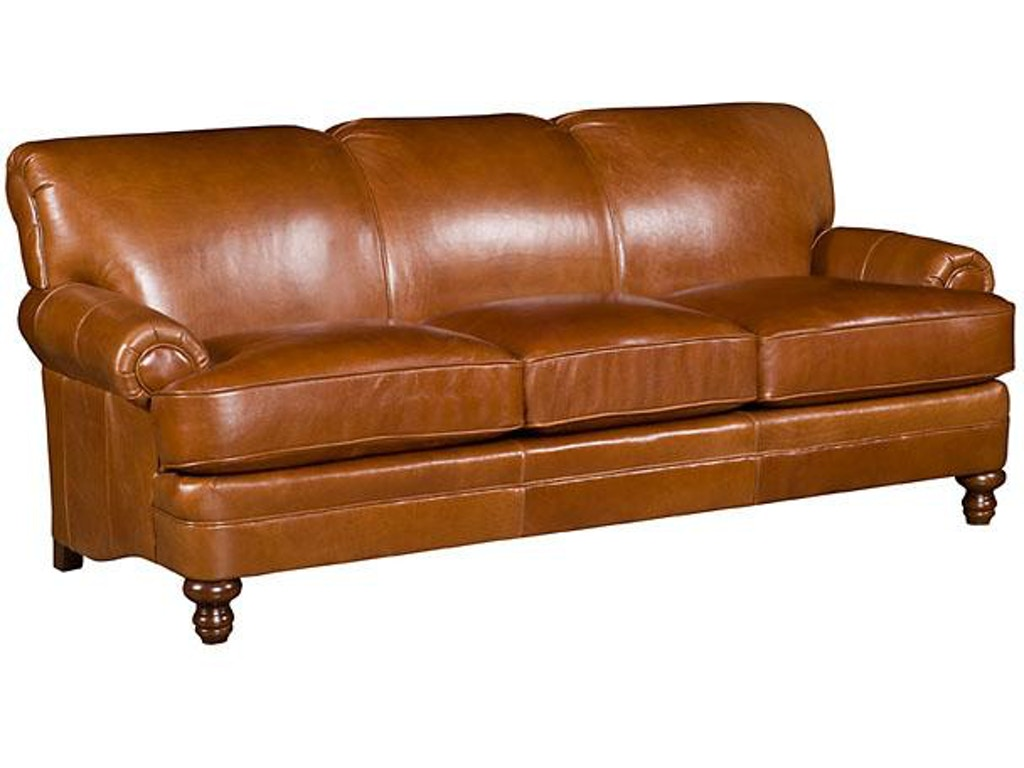 King hickory living room amanda leather sofa 5650 l for Leather sectional sofa mart