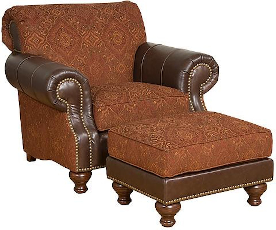 King Hickory Living Room Lana Leather Fabric Chair 57251 Lf At Bostic Sugg Furniture