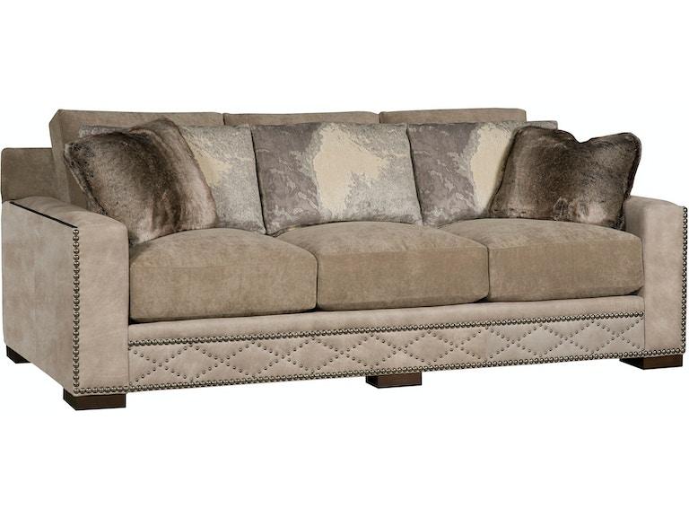 King Hickory California Leather/Fabric Sofa 5800-LF
