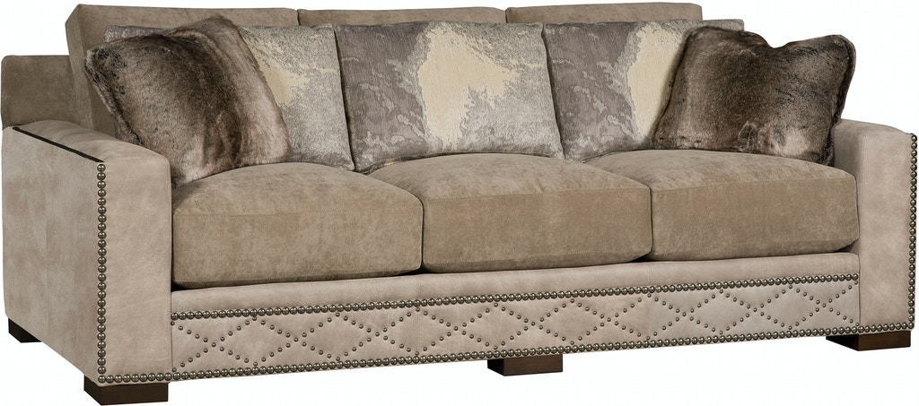 Awesome King Hickory California Leather Fabric Sofa 5800 Lf Squirreltailoven Fun Painted Chair Ideas Images Squirreltailovenorg
