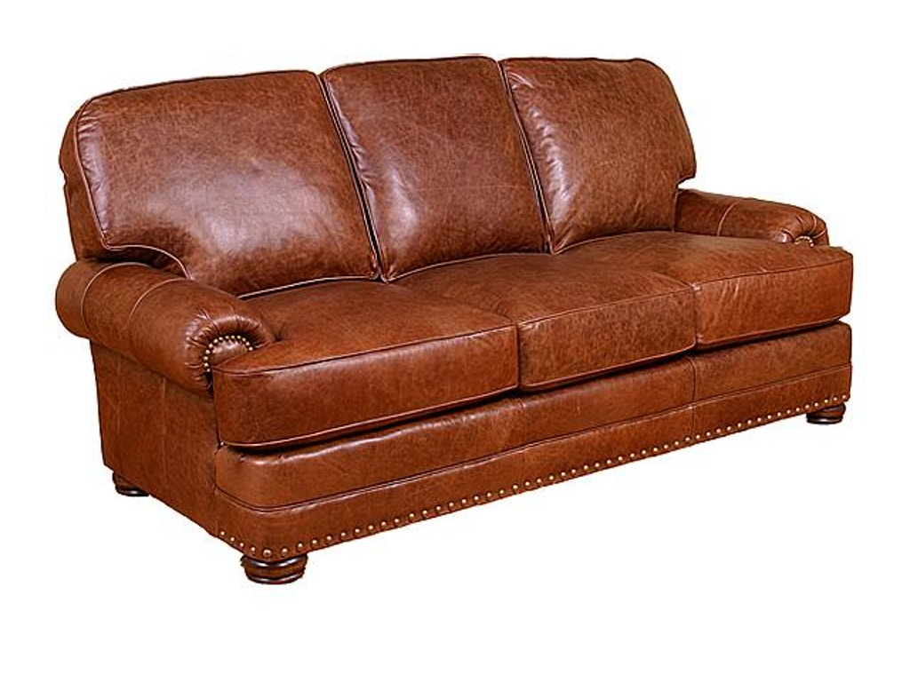 King Hickory Living Room Edward Leather Sofa 58100 L