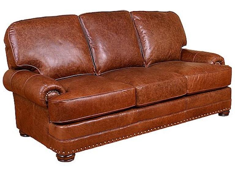 Phenomenal King Hickory Living Room Edward Leather Sofa 58100 L Inzonedesignstudio Interior Chair Design Inzonedesignstudiocom
