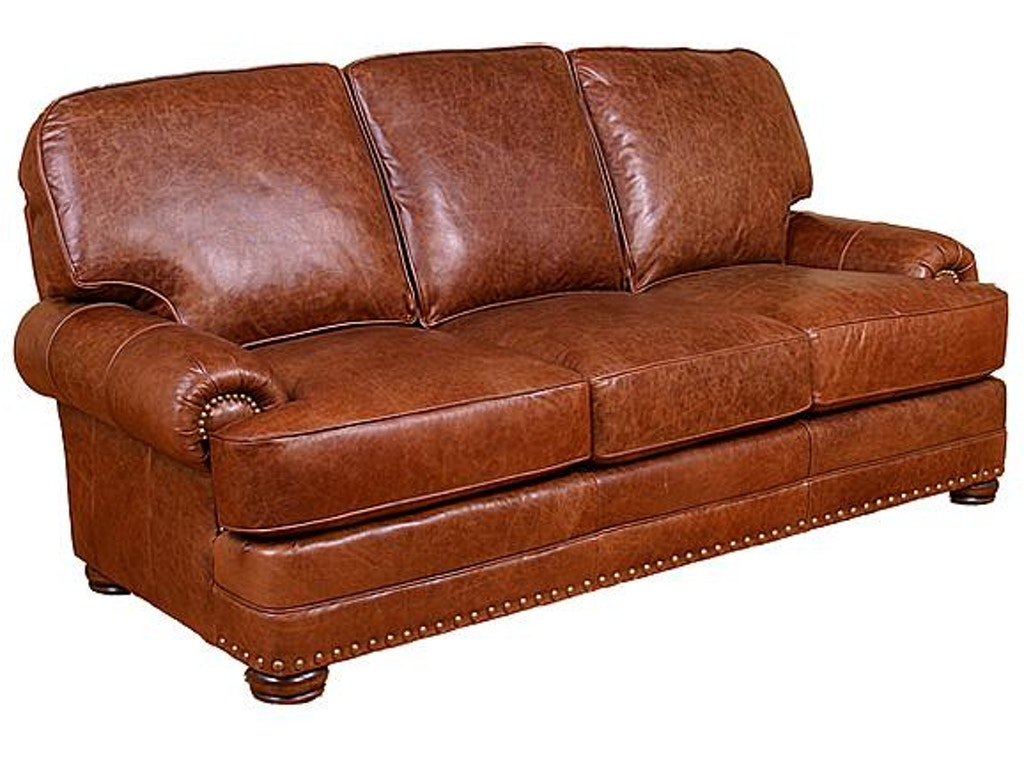 King hickory living room edward leather sofa 58100 l for Leather sectional sofa mart