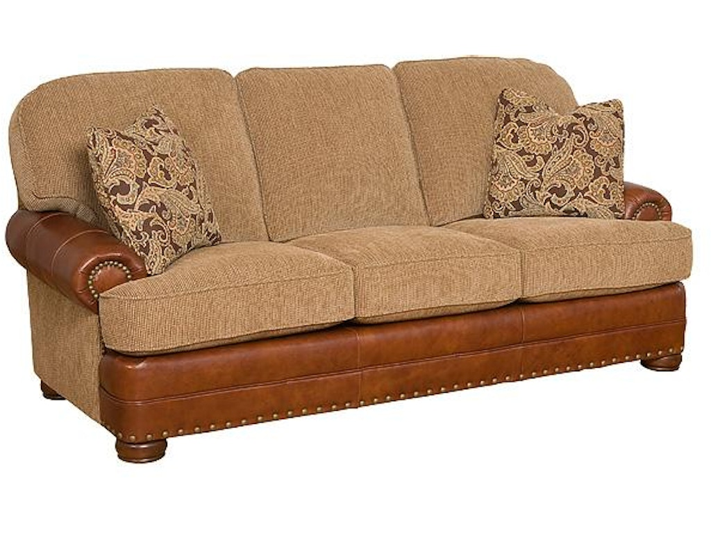 King hickory living room edward leather fabric sofa 58150 for Q furniture beaumont texas