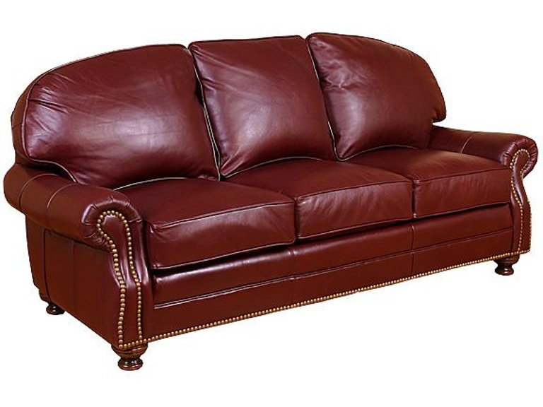 King Hickory Living Room Boston Leather Sofa Sku 58400 L Is Available At Furniture Mart In Nc And Nationwide