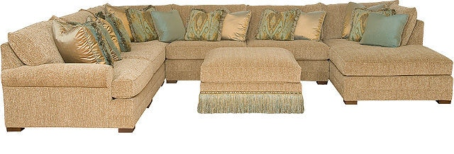 King Hickory Living Room Casbah Sofa With Track Arm Loose