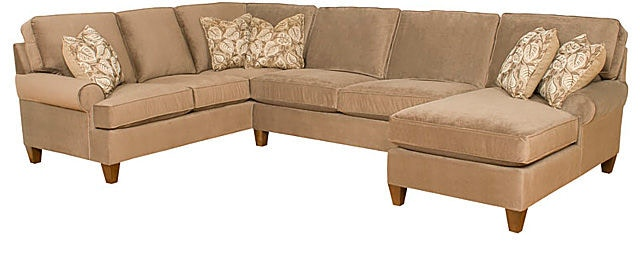 King Hickory Chatham Right Arm Facing One Arm Chaise With Sock Arm,  Attached Back,