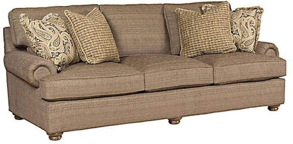 King Hickory Living Room Henson Fabric Sofa With English Arm ...