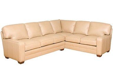 King Hickory Living Room Bentley Leather Sectional 4400