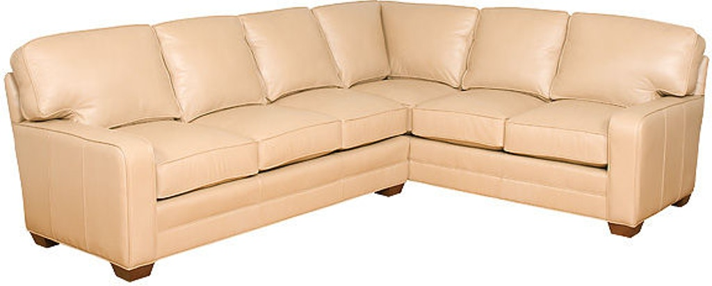 King Hickory Living Room Bentley Leather Sectional 4400 Sect L