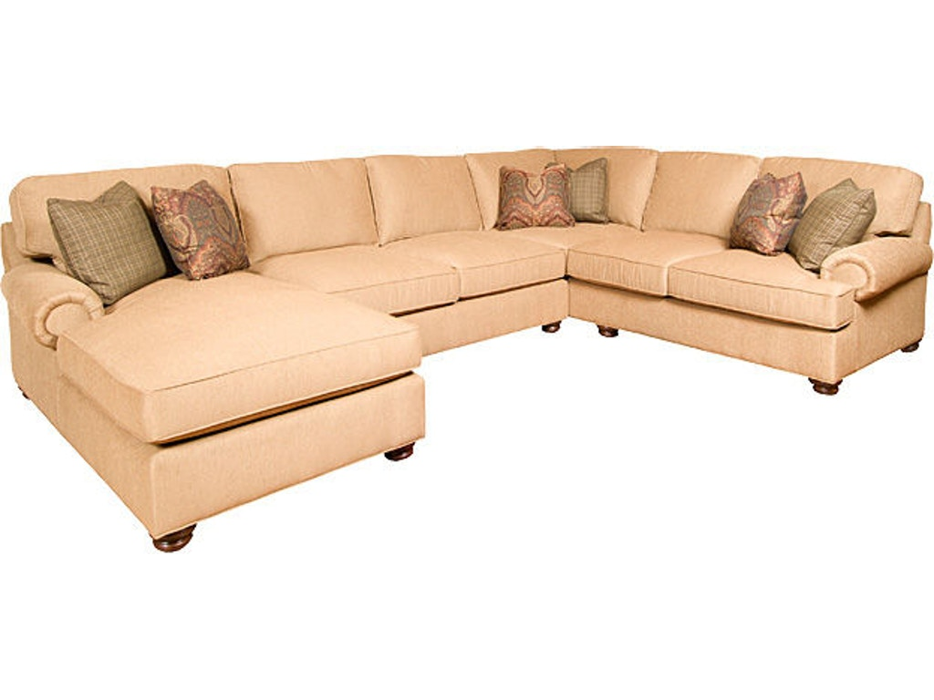King hickory living room henson fabric sectional 6000 sect for Quality furniture