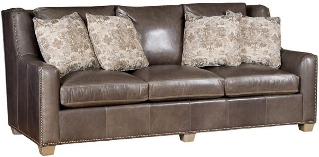 King Hickory Living Room Drake Leather Sofa 6200-33G-L ...